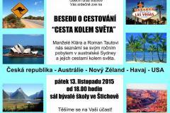 """Beseda o cestovní """"Cesta kolem světa"""" 13.11.2015"""